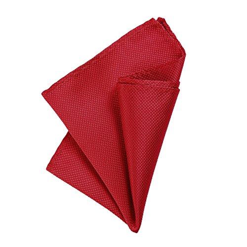 DonDon Pochette de costume homme mouchoir 21 x 21 cm pour des occasions festives - rouge
