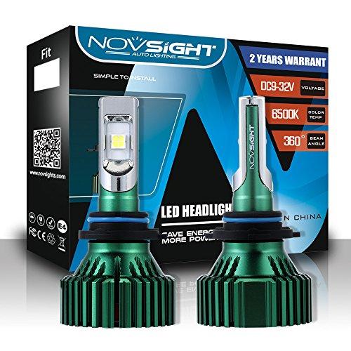 Kit De Conversion D'ampoules De Phares À DEL Extrêmement Lumineux (9005,9006, H4, H7, H11, H13) Phares À DEL Tout-En-Un, Blanc Froid 6500K 1W LM 60W,9006
