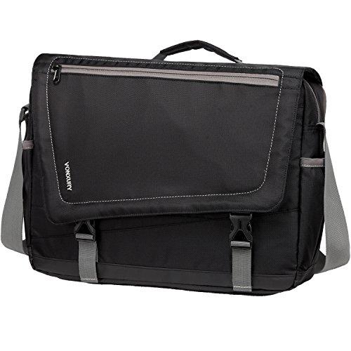 Messenger Bag for Men, Lightweight Water Resistant 15.6 In Laptop Bag School Office Shoulder Bag by Vonxury Black