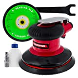 TCP Global Professional Heavy Duty 6' Dual-Action Random Orbit Air Palm Sander with Both PSA and...