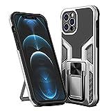 SORAKA Funda para iPhone 12 Pro con Soporte Funda Protectora Resistente Carcasa Silm Fit con Placa de Metal para Soporte magnético para teléfono móvil