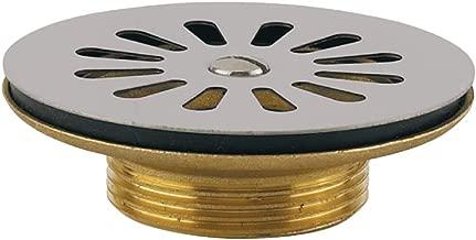 Chasse deau WC Id/éal Standard de rechange Bouton e4447/UPVC Finition en satin avec anneau chrom/é pour chasse deau Lagaro bsio 6L DFV