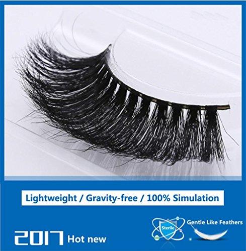 Une paire de Packed 3D naturel cheveux faux cils à la main cils maquillage Super naturel long cils léger confort souple Style , MT005