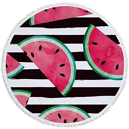 Strandhanddoek Zonnebrandcrème Sjaal Wrap Deken Kassen Wandtapijt Ophangen Yoga Picknick Mat Fruit Microvezel Rond