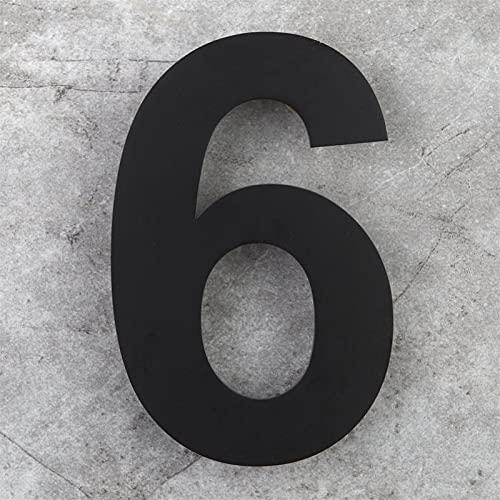 Muestra de la Puerta de la casa Flotante de 6 Pulgadas montada, Acero Inoxidable 18-8 Mate Negro (Color : Number 6)