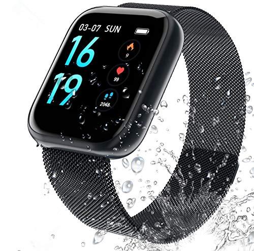 Aktivitätsmonitor, wasserdicht, IP68, Fitness-Tracker und Schlafzähler, mit 2 austauschbaren Armbändern für Männer und Frauen