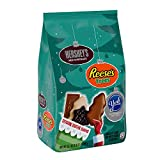 HERSHEY'S Holiday Shapes Christmas Chocolate Candy Assortment, HERSHEY'S, REESE'S & YORK, Individually Wrapped, 35.1 oz. Bag