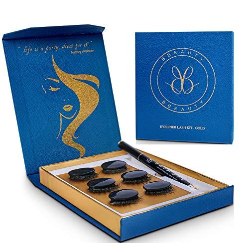 BBeauty® Upgrade für künstliche Wimpern. Eyeliner Stift statt Wimpernkleber (24h Halt, wasserfest) - Falsche Wimpern natürlich (fake lashes) – Vegan