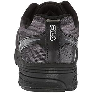 Fila Women's Memory Reckoning 8 Slip Resistant Steel Toe Running Shoe Food Service, Black/Pewter/Metallic Silver, 8.5 B US