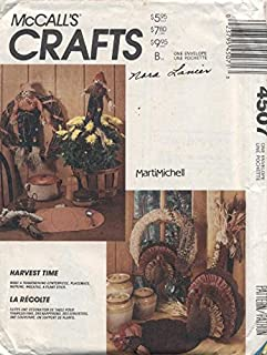 McCall's Crafts 4507 Harvest Time Turkey Scarecrow Pumpkin Sewing Pattern