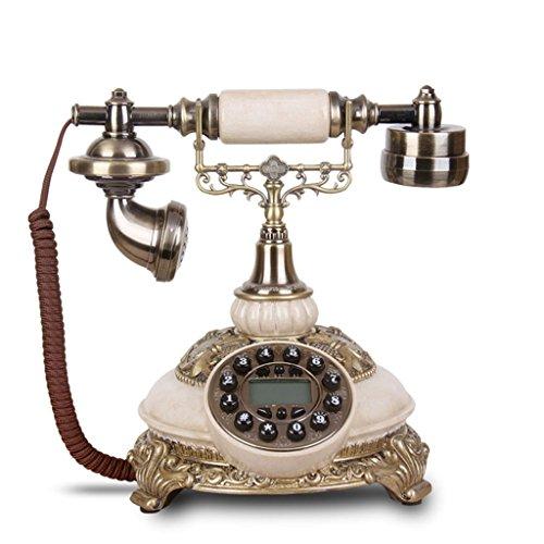 NYDZDM Teléfono Retro de teléfono Vintage con Cuerpo de Resina y Metal, teléfono Antiguo de réplica, Auricular de teléfono residencial de casa de línea Fija Retro Vintage