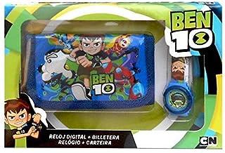 Ben 10- Set Reloj Digital y Billetera En Caja, Multicolor (Kids Euroswan KD-BT17010)