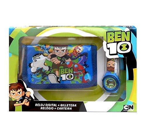 Ben 10–Uhr Digital und Brieftasche Set in Box, Mehrfarbig (Kids Euroswan kd-bt17010)