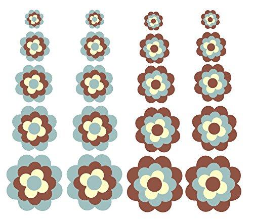 Aufkleber Autoaufkleber Fliesenaufkleber Wandtattoo Blumen ähnlich Prilblumen Retroblume 20er Set