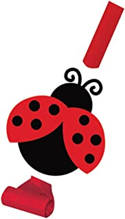 Creative Converting Ladybug Fancy Party Blowouts with Medallions, 8 Count