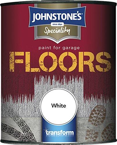 Johnstone's 307949 Garage Floor Paint White, 2.5 Litre