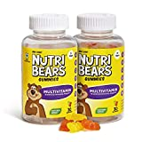 NutriBears Multivitamin Gummies for Kids and Teens, 2 Pack, Vitamins A, B, C, and D with Zinc,...