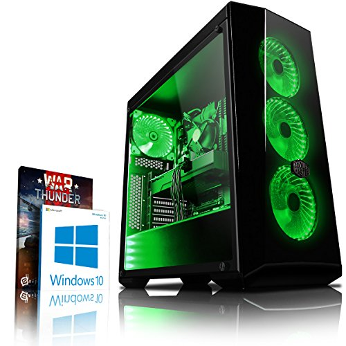Vibox VBX-PC-278255 Gaming Desktop PC (Intel Core i7 8700K, 1000GB harde schijf, 8GB RAM, NVIDIA GeForce GTX 1080 Ti, Win 10 Home) groen