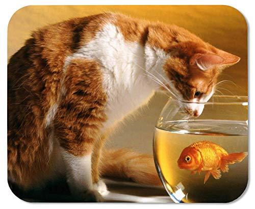 Gaming muismat kat op zoek naar goudvis kom rechthoek anti-slip rubber muismat Gaming muismat