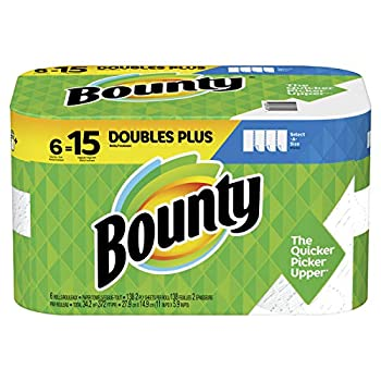 Bounty Select-A-Size Paper Towels 6 Double Plus Rolls = 15 Regular Rolls