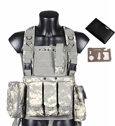Táctico Chaleco QMFIVE Ejército Militar MOLLE Combate RRV Asalto Chaleco con Bolsa/Traning...