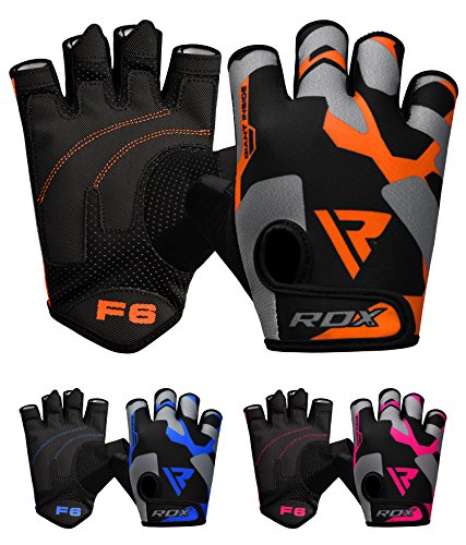 RDX Weight Lifting Gloves for Gym Workout, Breathable with Padded Anti Slip Palm Protection, Great for Fitness, Bodybuilding, Powerlifting, Strength Training, Weightlifting, Cycling, Exercise