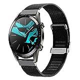 Keweni Compatible con la Correa Huawei Watch GT 2 (46 mm), Correa de Repuesto de Metal de Liberación Rápida para el Reloj Inteligente Huawei Watch GT/GT 2e (Negro)