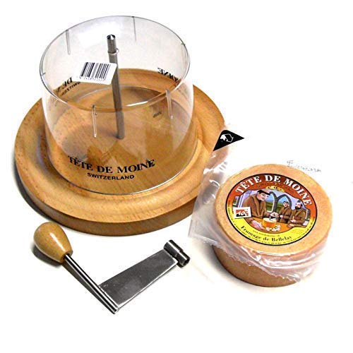 Käsehobel Set Tete de Moine halber Laib und Haube