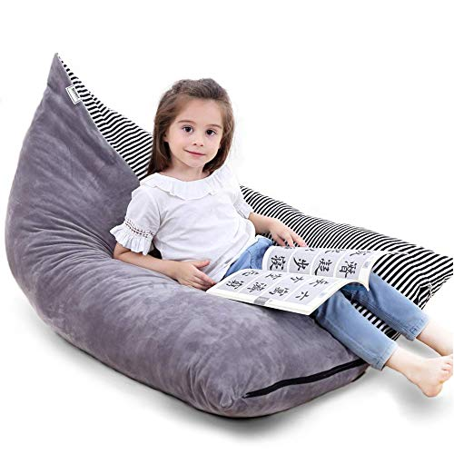 "Stuffed Animal Storage Bean Bag Chair | 53"" Extra Large Beanbag Cover"