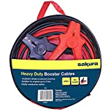 Sakura Heavy Duty Booster Cables Jump Start Leads SS3626 - 400 Amp 3 m Colour Coded Clamp - For Cars Vehicles Up To 3.0L/3,000CC - Flat Battery