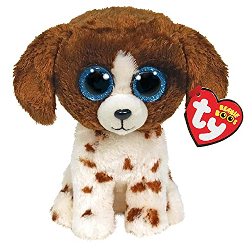Ty 2007517 Muddles Brown & White Dog Beanie Boo Stuffed Animal, Multicoloured