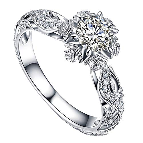 Clearance Rings,Women Natural Ge...