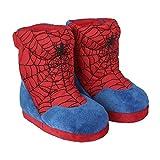 Spiderman Zapatillas de Estar por Casa para Niños, Pantuflas Cálidas de Felpa Suave y Acogedora, Zapatillas en 3D Súper Divertidas, Diseño Fácil de Poner, Regalo para Niños! Talla 30/31