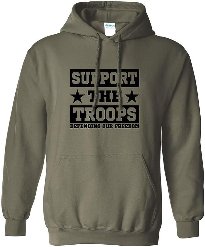 zerogravitee Support The Troops Adult Hooded Sweatshirt in 7 Col