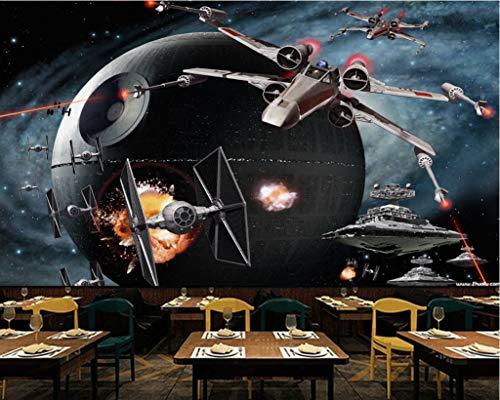 Wxlsl 3D Tapete Custom Star Wars Flugzeug Spiel Tooling Hintergrundwand-200Cmx140Cm