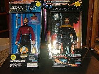 "6 Star Trek 10"" Action Figs Riker, Picard, La Forge, Data, Scott, Sisko NIB G"