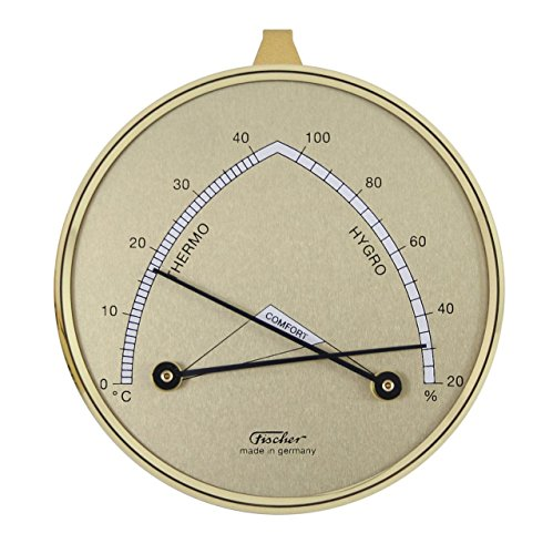 fischer Wohnklima - Hygrometer mit Thermometer