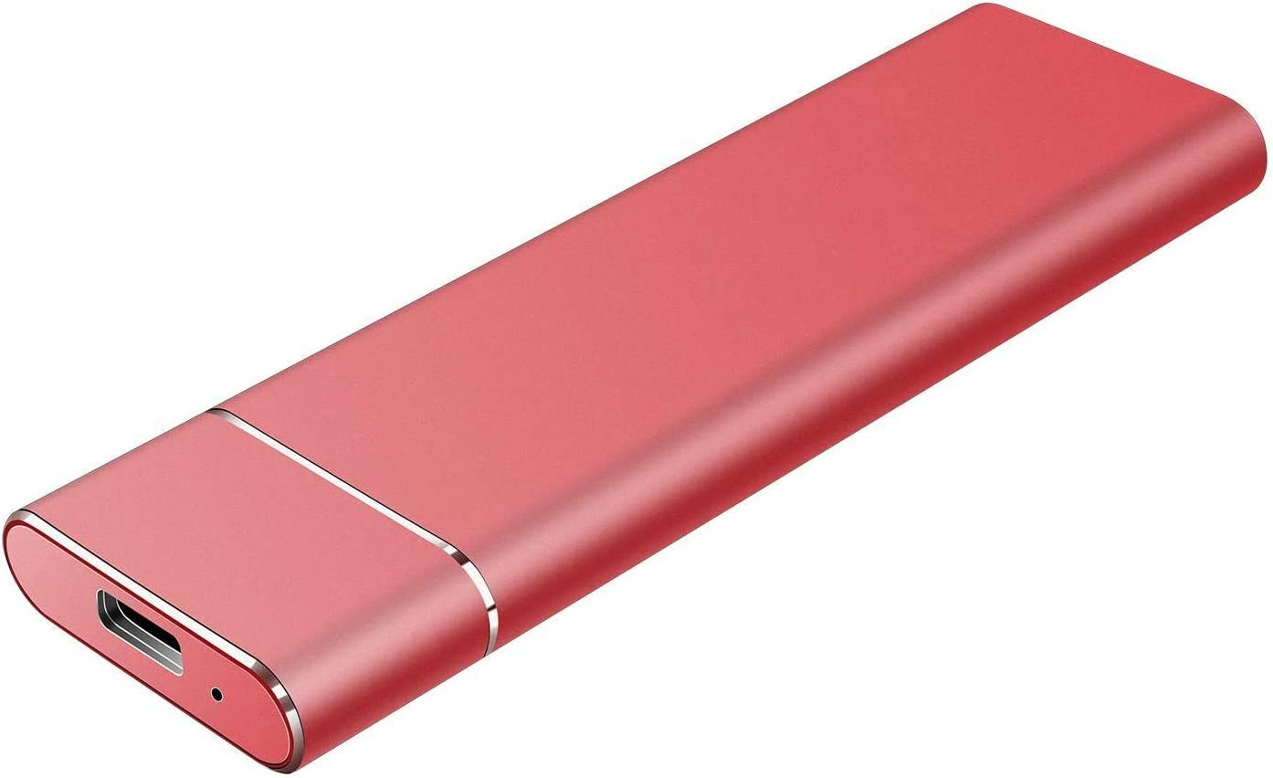 External Hard Drive Type C USB 2.0 Portable 1TB 2TB Hard Drive External HDD Compatible for Mac Laptop and PC(RED-V2)