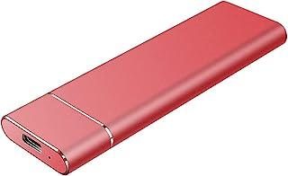 2TB External Hard Drive, Portable Hard Drive External Type-C/USB 2.0 HDD for Mac Laptop PC(2TB-RED)
