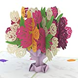 Lovepop Tulip Bouquet Pop Up Greeting Card - 3D Card, Pop Up Mother's Day Card, Flower Pop Up Card, Lovepop Card, Anniversary Card, Spring Card, Summer Card, Card for Mom