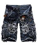 Menschwear Hombres Bermuda Cortos Pantalones Cargo Verano Cortos Deporte Shorts Playa Cortos...