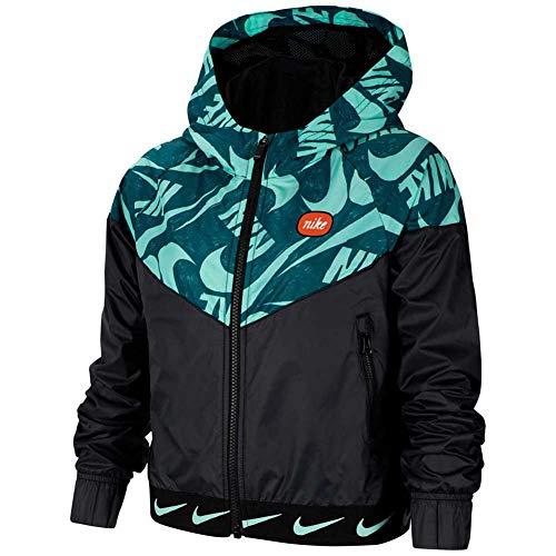 Nike Mädchen CJ7426-010 Jacke, Black/Emerald Rise, M Regular
