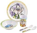 Home Disney I Sette Nani Confezione Pappa Bimbo in Melammina, 5 Pezzi, Multicolore