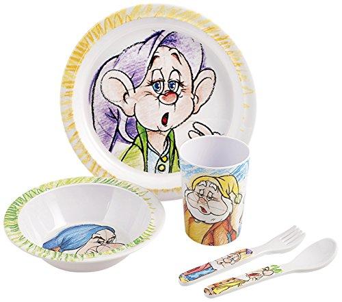 Disney lunchset voor jongens, tekening van de 7 dwergen, wekker, meerkleurig