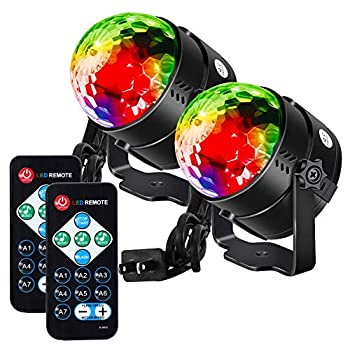 Litake Party Lights Disco Ball Strobe Light Disco Lights 7 Colors Sound Activated with Remote Control Dj Lights Stage Light for Festival Bar Club Party Wedding Show Home-2 Pack
