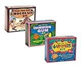 Universal Specialties Make Your Own Chocolate Gummy and Chewing Gum Kits - 3 Pack Bundle