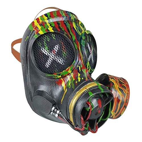 FEEE-ZC Halloween Maske Punk Kostüm Requisiten Retro Camouflage Gasmaske Schutzausrüstung Vollgesichtsmaske Spielzeug Weihnachten Ostern Cosplay Erwachsene (Camouflage)