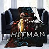 Manta Hit-Man 3D con impresión digital ultra suave de micro forro polar para el hogar, la cama, el sofá y el dormitorio para todas las estaciones, manta de cama de 60 x 50 pulgadas