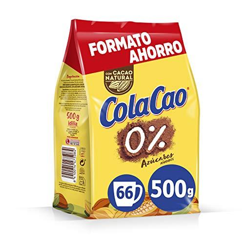 Cola Cao 0{b1e73688dae1636461fec3741329f1173b46551ec969698e6ba898030ebeaa89} Azúcares Añadidos - 500 g