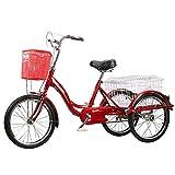 ZFF Triciclo para Adultos 20 Pulgadas 3 Ruedas Bicicleta para...